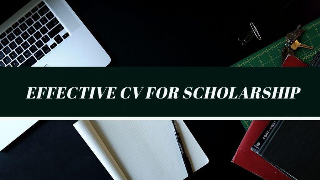 Effective CV for Scholarship