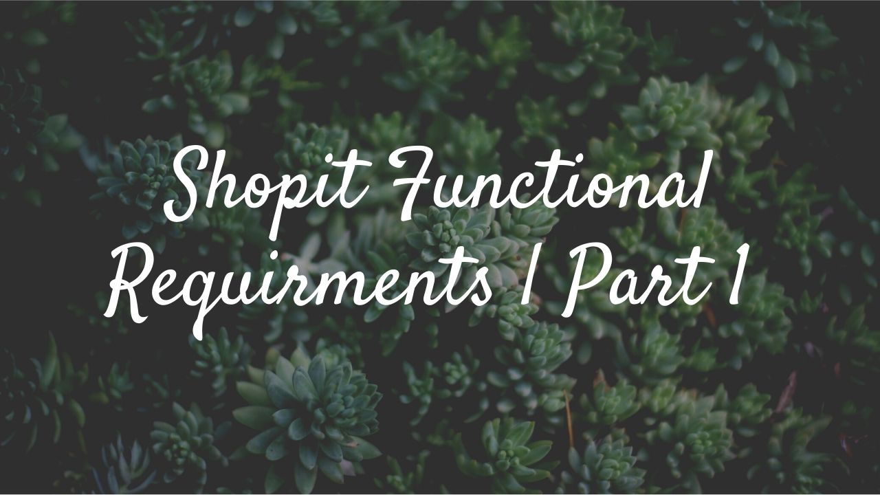 Shopit Functional Requirments Part 1