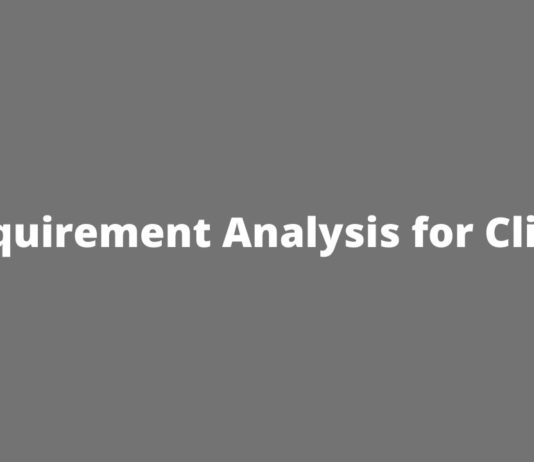 Requirement Analysis for Clinic